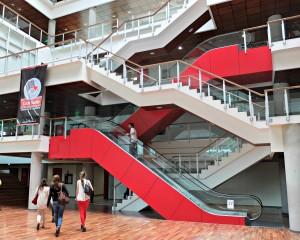 Visitando el nuevo campus de UDLA Park.