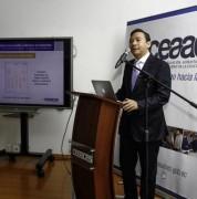 Francisco Cadena, presidente del Ceaaces, presentó los resultados de las evaluaciones. Foto: Micaela Ayala V./Andes / Foto Cortesía: ANDES NOTICIAS