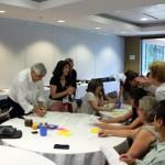 En el debate del borrador de la carta -grupo de hablantes de español de diferentes países de América Latina y de España