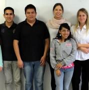 Algunos estudiantes que participaron en el programa de Language Exchange
