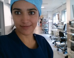 Carolina Toapanta, estudiante de Medicina